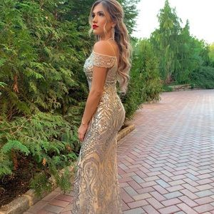 Silver Jovani dress
